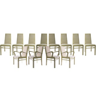 Italian Eggshell Lacquer Dining Chairs - Set of 12
