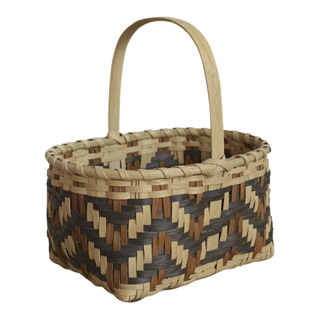 Carol Welch Cherokee White Oak Small Market Basket - Image 1 of 9