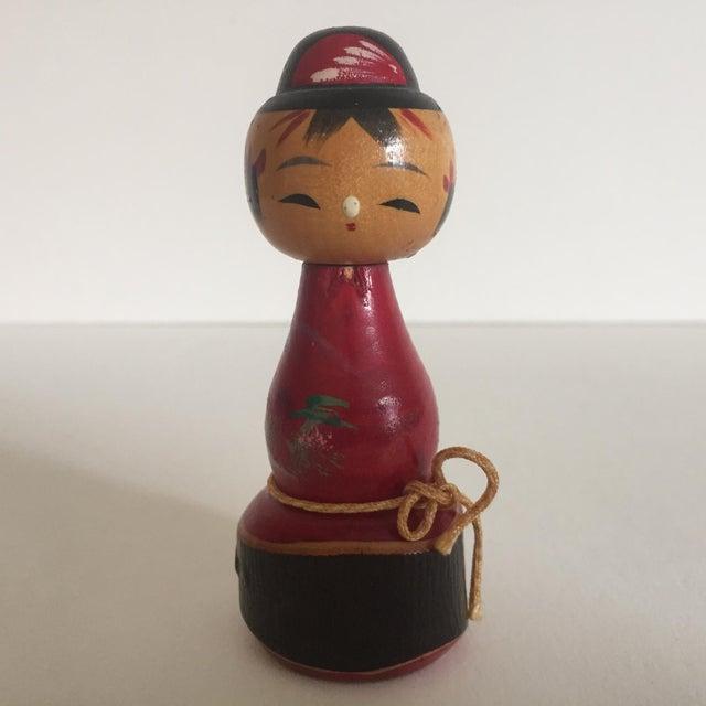 Vintage Mid-Century Japanese Wooden Kokeshi Dolls - Set of 3 - Image 7 of 9