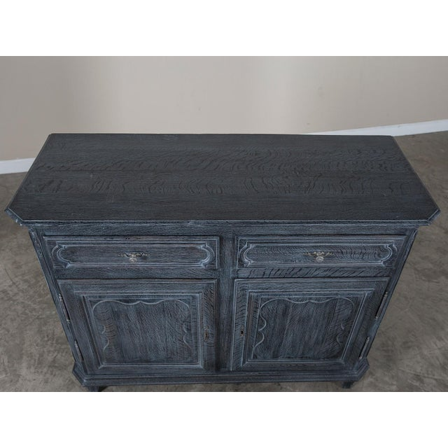 Antique French Régence Style Black Limed Oak Buffet circa 1770 - Image 10 of 11