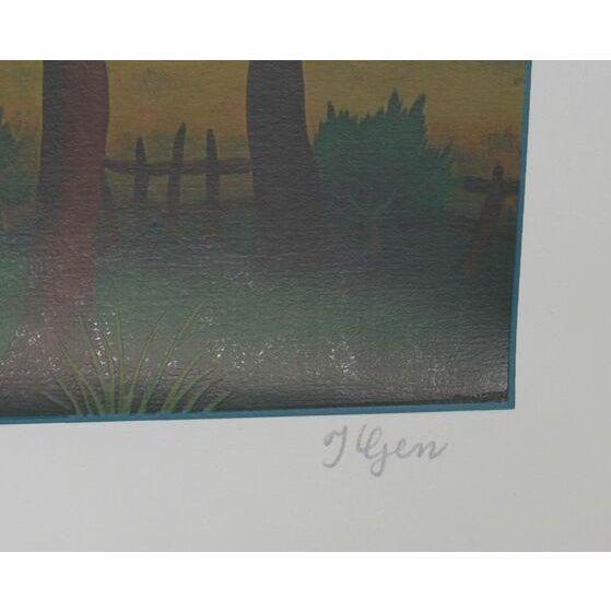 "Ivan Generalic, ""Village Landscape,"" Serigraph - Image 2 of 2"