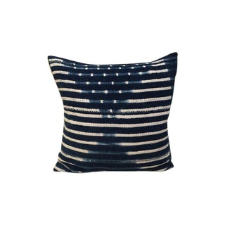Vintage African Indigo Textile Pillow