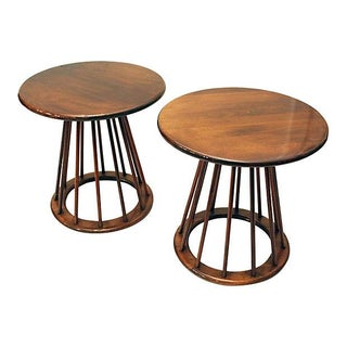 Ed Wormley Style Sheaf of Wheat Tables- A Pair