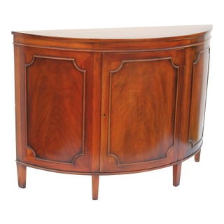 Mid-Century Modern Exotic Rosewood Italian Demilune Dry Bar