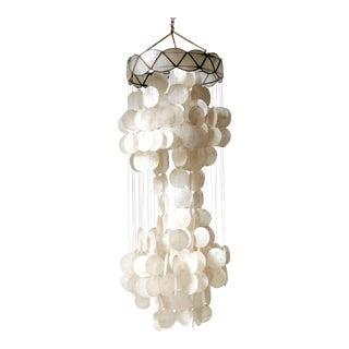 1960s Capiz Shell Hanging Pendant