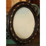 Image of Antique Oval Hanging Mirror