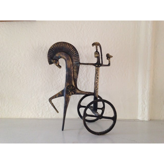 Etruscan Horse & Chariot Sculpture - Image 2 of 10