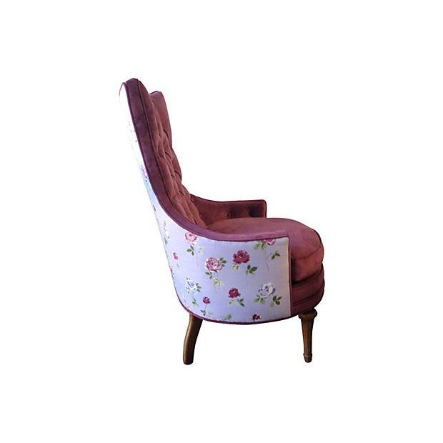 Image of 1950s Tufted Accent Chair