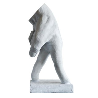 White Resin Walking Hand Sculpture