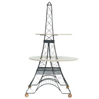 Mid-Century 2 Tier Eiffel Tower Brass Table