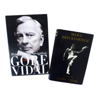 Gore Vidal's 'Myra Breckinridge' & 'Point to Point Navigation' Books - A Pair