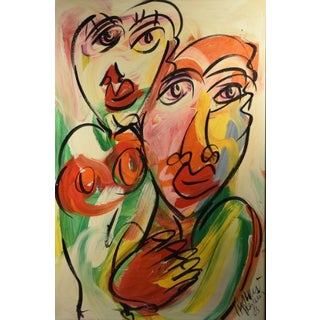 "Peter Keil Painting, ""Girls From Berlin"""