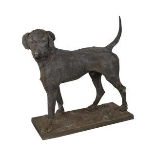 "19th Century Antique J.W. Fiske Zinc ""Morley's Dog"" Statue"
