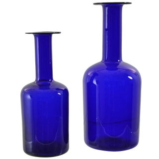Holmegaard Vases in Two Sizes