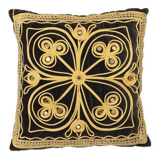 Turkish Black Velvet Mirror Pillow