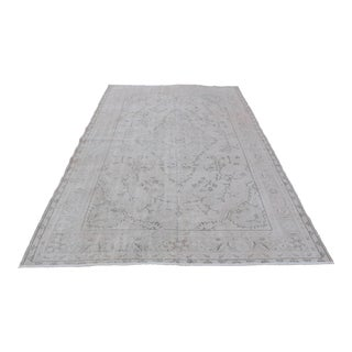 Antique Beige Turkish Leaves Designed Rug - 5′11″ × 9′2″