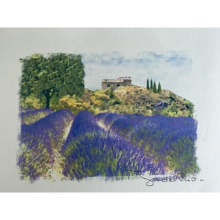 Signed Print of Lavender Field