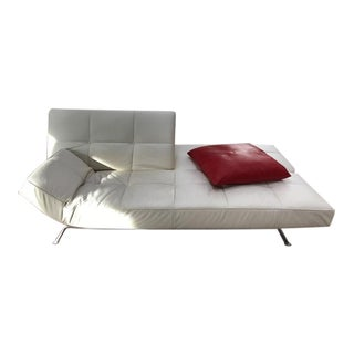 Ligne Roset White Leather Sofa
