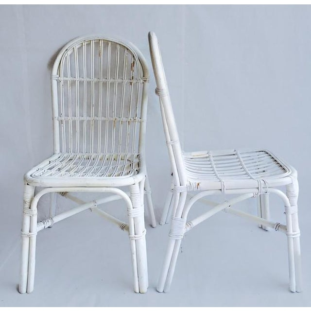 Mid-Century Bent Wood Bamboo Chairs - A Pair - Image 4 of 8