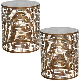 Sydney Mod Yvans Geo Side Tables - A Pair