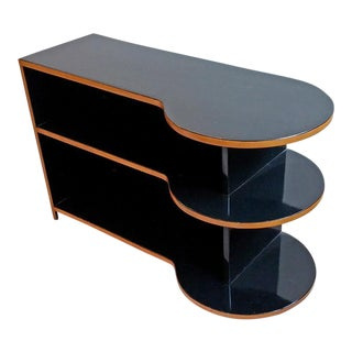 Black Art Deco Style Shelf