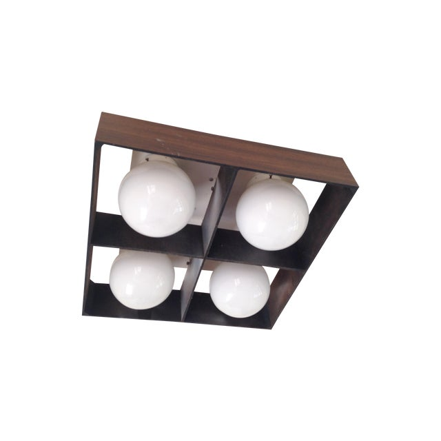 Mid-Century Orb Four-Light Ceiling Fixture - Image 1 of 10