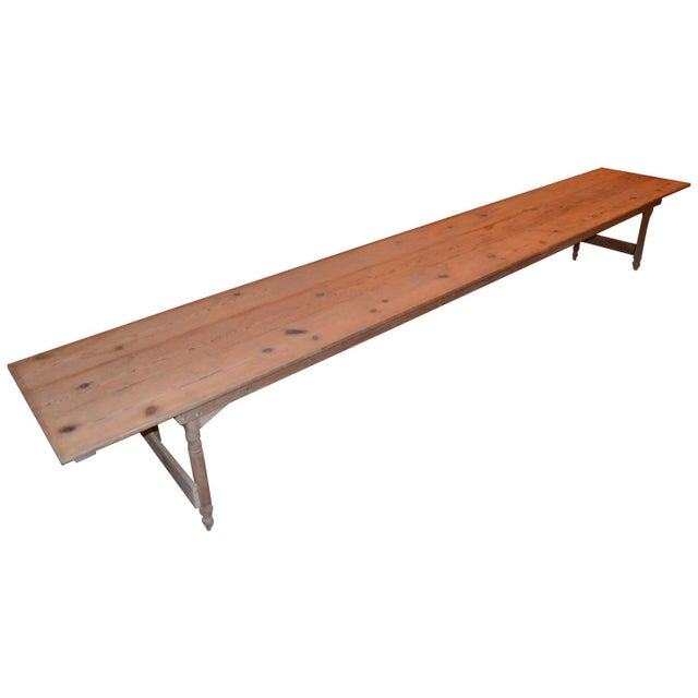 Antique Old Harvest Pine Table - Image 1 of 9