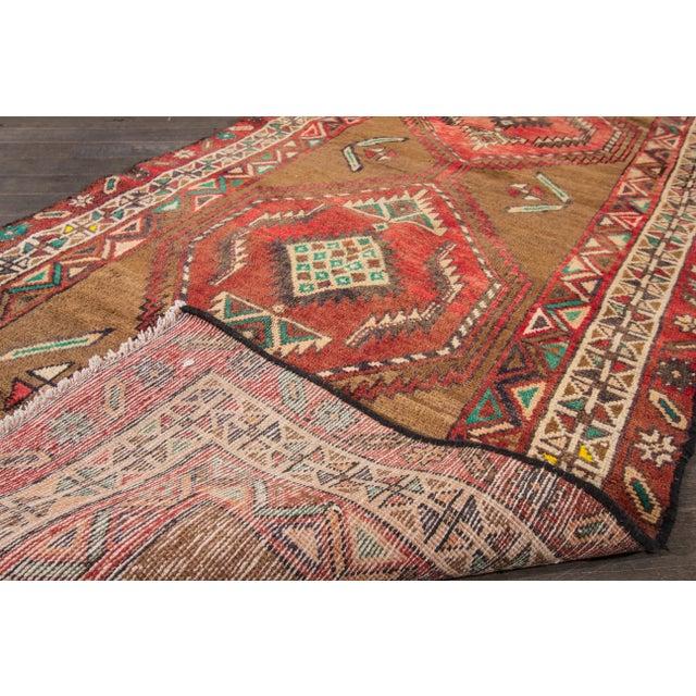 "Apadana Vintage Hand Knotted Persian Rug - 3'5"" X 7'2"" - Image 6 of 7"
