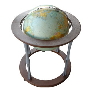 Mid-Century Modern Replogle Lighted Heirloom Series Globe