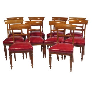 19th Century Regency Side Chairs - Set of 10