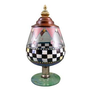 Mackenzie Childs Circus Glass Jar