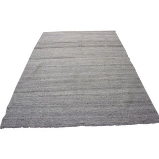 "Turkish Natural Wool Kilim Rug - 5'1"" x 7'"