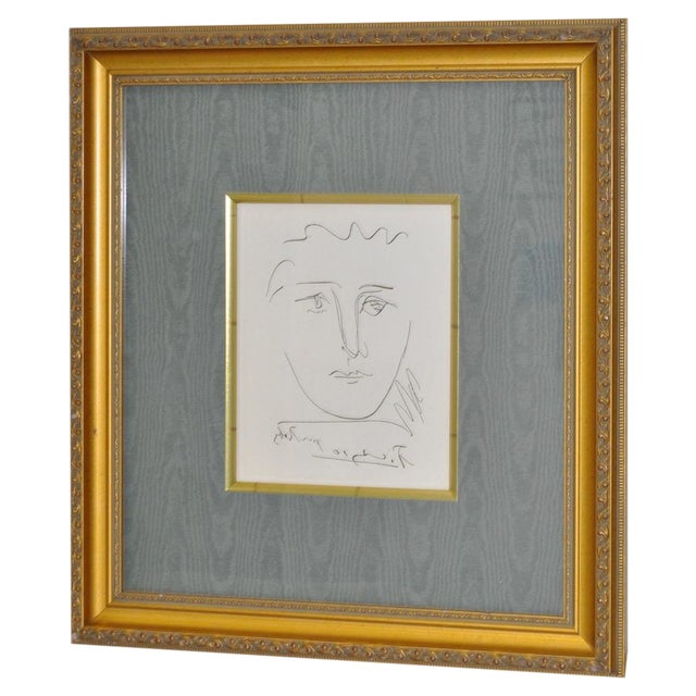 "Vintage ""Pour Roby"" Picasso Etching - Image 1 of 7"