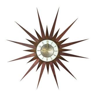 Mid-Century Sunburst Clock