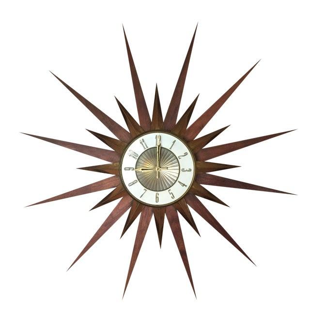 Image of Mid-Century Sunburst Clock