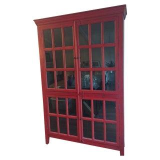 Crate & Barrel Rojo Tall Cabinet