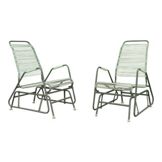 Retro Sliding Patio Outdoor Chairs
