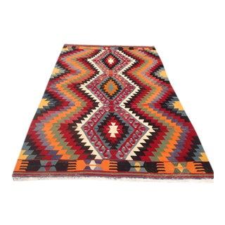 Vintage Turkish Kilim Rug - 6′ × 9′2″