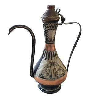 Metal and Brass Turkish Ewer