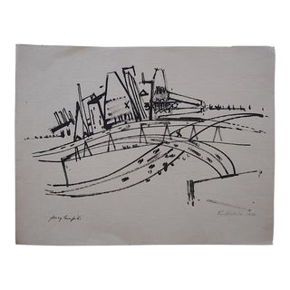 Jersey Turnpike-Pencil Signed