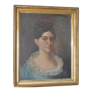 "Circa 1820s ""Cousin Annie's Grandmother"" Portrait Painting"