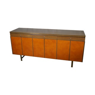 Paul McCobb Mid-Century Leather Front Sideboard