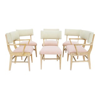 Mid-Century Modern Pastel Dining Chairs - Set of 6