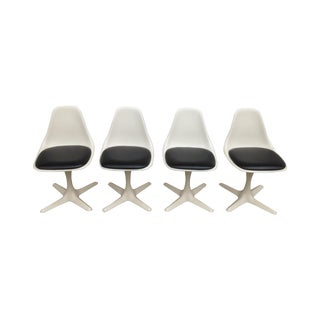 Burke 103 Navy Seat Tulip Chairs - Set of 4