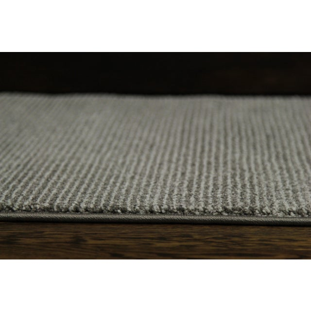 Contemporary Gray & White Striped Rug - 2'8'' x 10' - Image 5 of 6