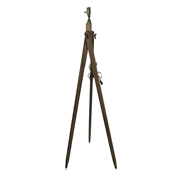 french wood survey tripod lamp
