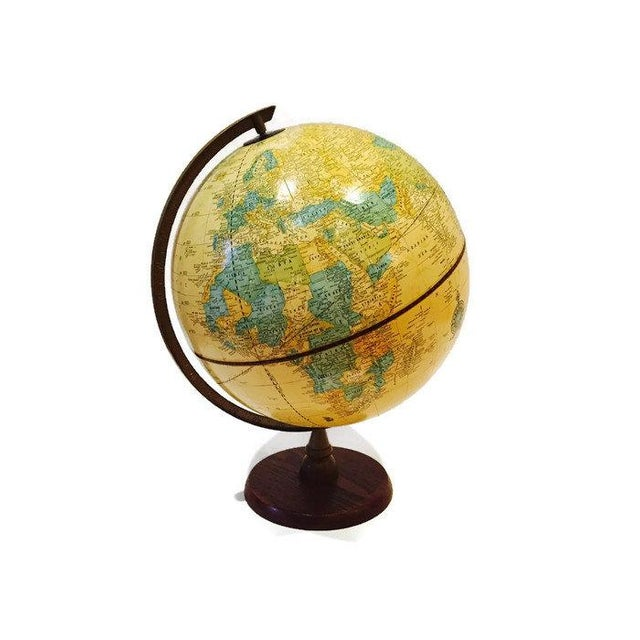 Vintage Crams Imperial World Globe Wood Stand - Image 5 of 6