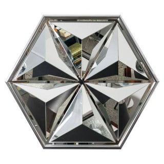 Polished Chrome Polygon Shaped Wall Mirror