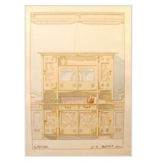 French Decorator Sheet - Interior/ Buffet C. 1900