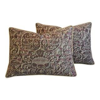 "24"" X 18"" Custom Tailored Italian Fortuny Caravaggio Feather/Down Pillows - a Pair"